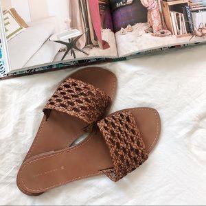 Zara Woven Braided Slide Sandals